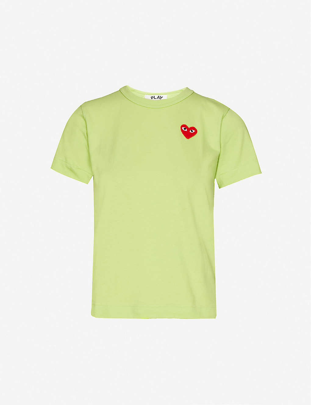 COMME DES GARCONS PLAY: Pink Tee Red Heart