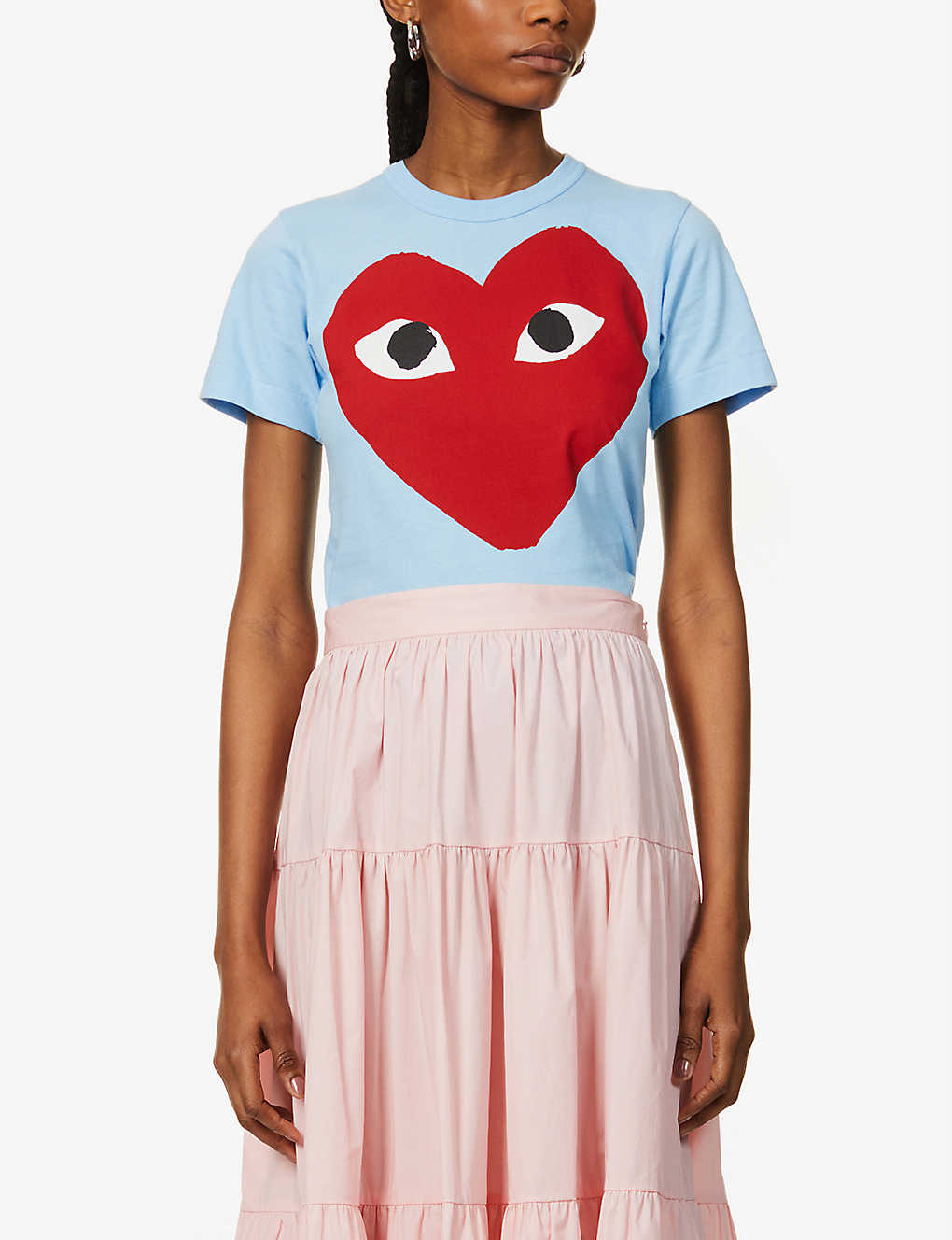 COMME DES GARCONS PLAY: Graphic-print cotton-jersey T-shirt