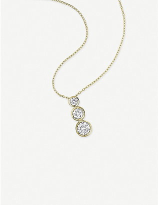 VASHI: 18k yellow-gold and 0.5ct diamond-pendant necklace