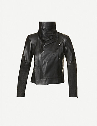 RICK OWENS: Larry padded leather jacket