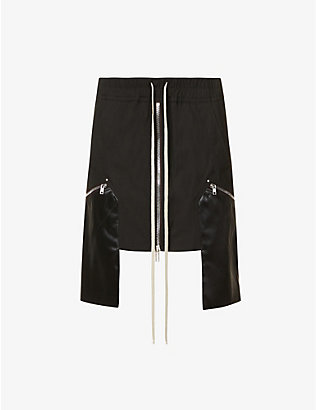 RICK OWENS: Performa high-waisted stretch-cotton mini skirt