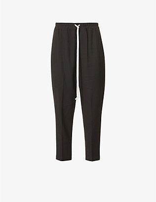 RICK OWENS: Cropped mid-rise wool-blend trousers