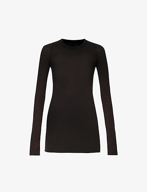 RICK OWENS: Ribbed knitted top