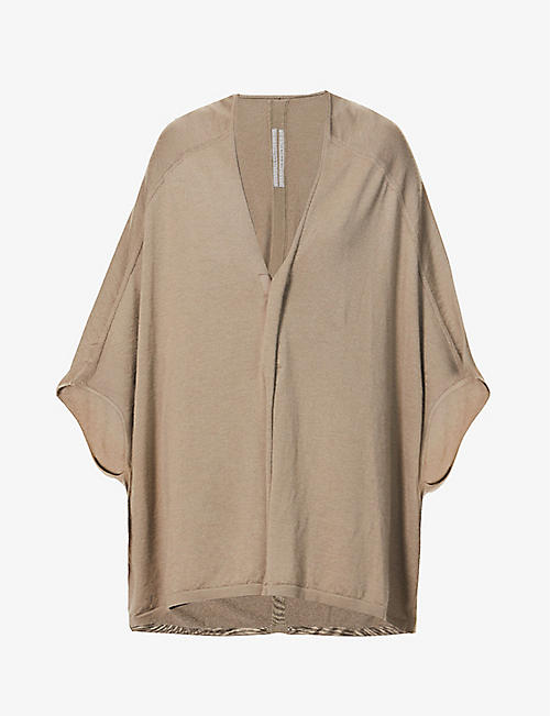 RICK OWENS: Mantle cashmere top