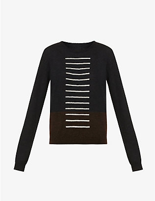 RICK OWENS: Striped knitted jumper