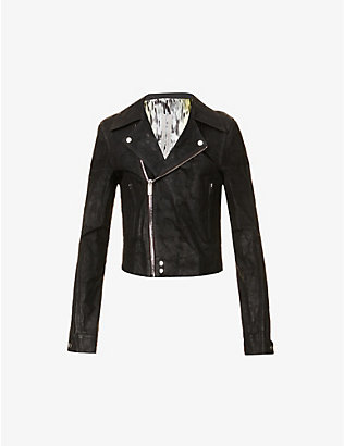 RICK OWENS: Dracubiker leather jacket