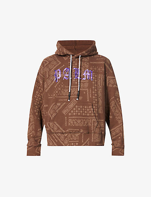 PALM ANGELS: Bandana brand-print cotton-jersey hoody