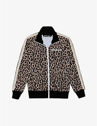 PALM ANGELS: Leopard-print jersey jacket