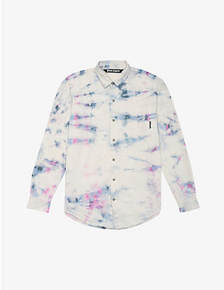 PALM ANGELS: Tie-dye print cotton-twill jacket