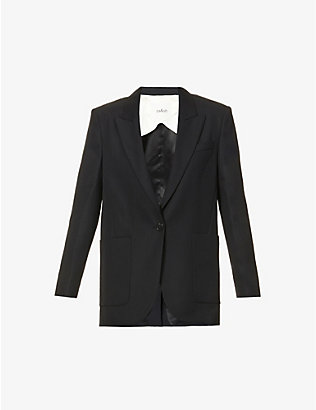 BA&SH: Bird single-breasted woven blazer