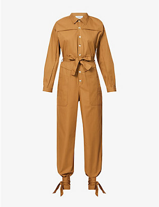 BA&SH: Chris belted twill jumpsuit