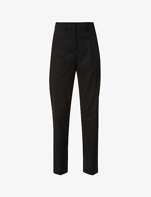 BA&SH: Club tapered mid-rise wool trousers