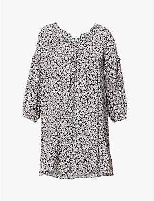 BA&SH: Elroy floral-print ruffle-trimmed crepe mini dress