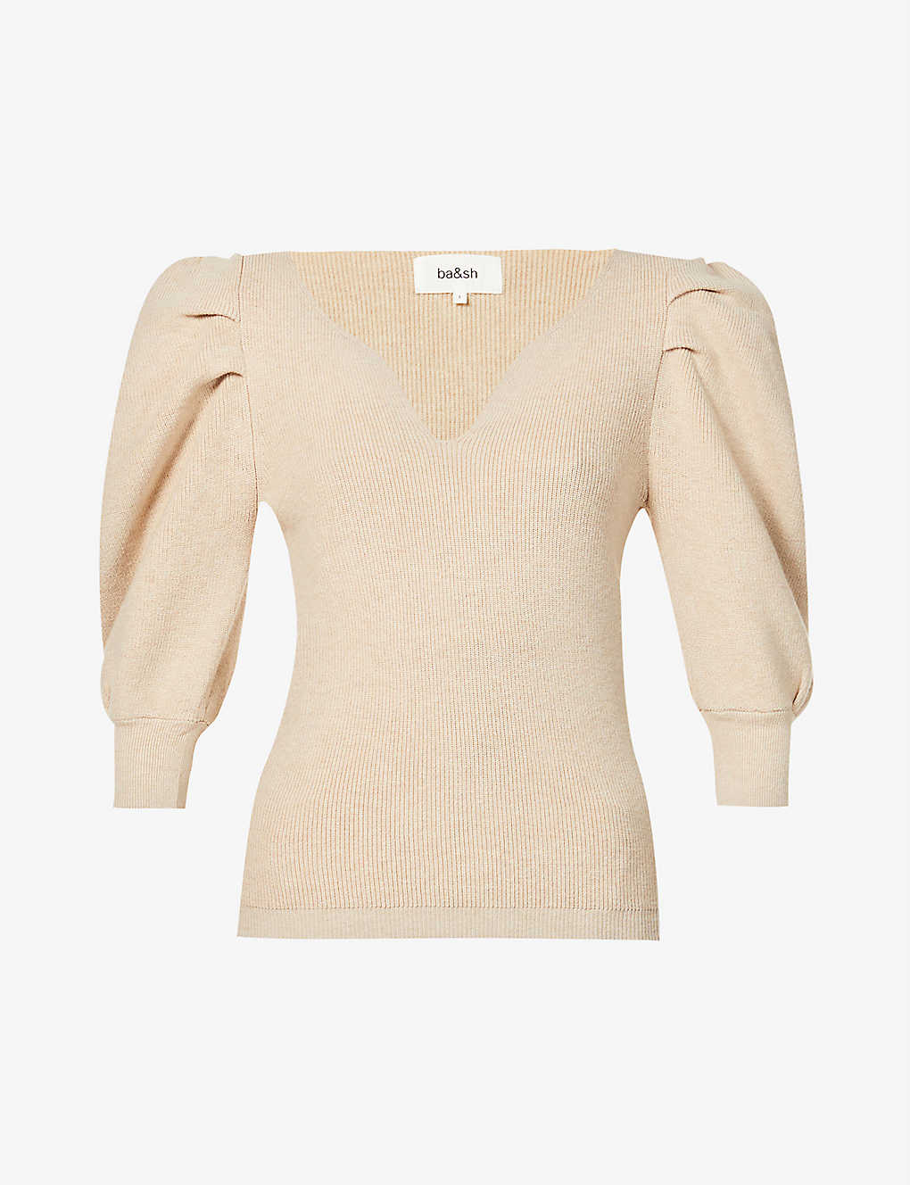 BA&SH: Harris V-neck cotton and wool-blend jumper