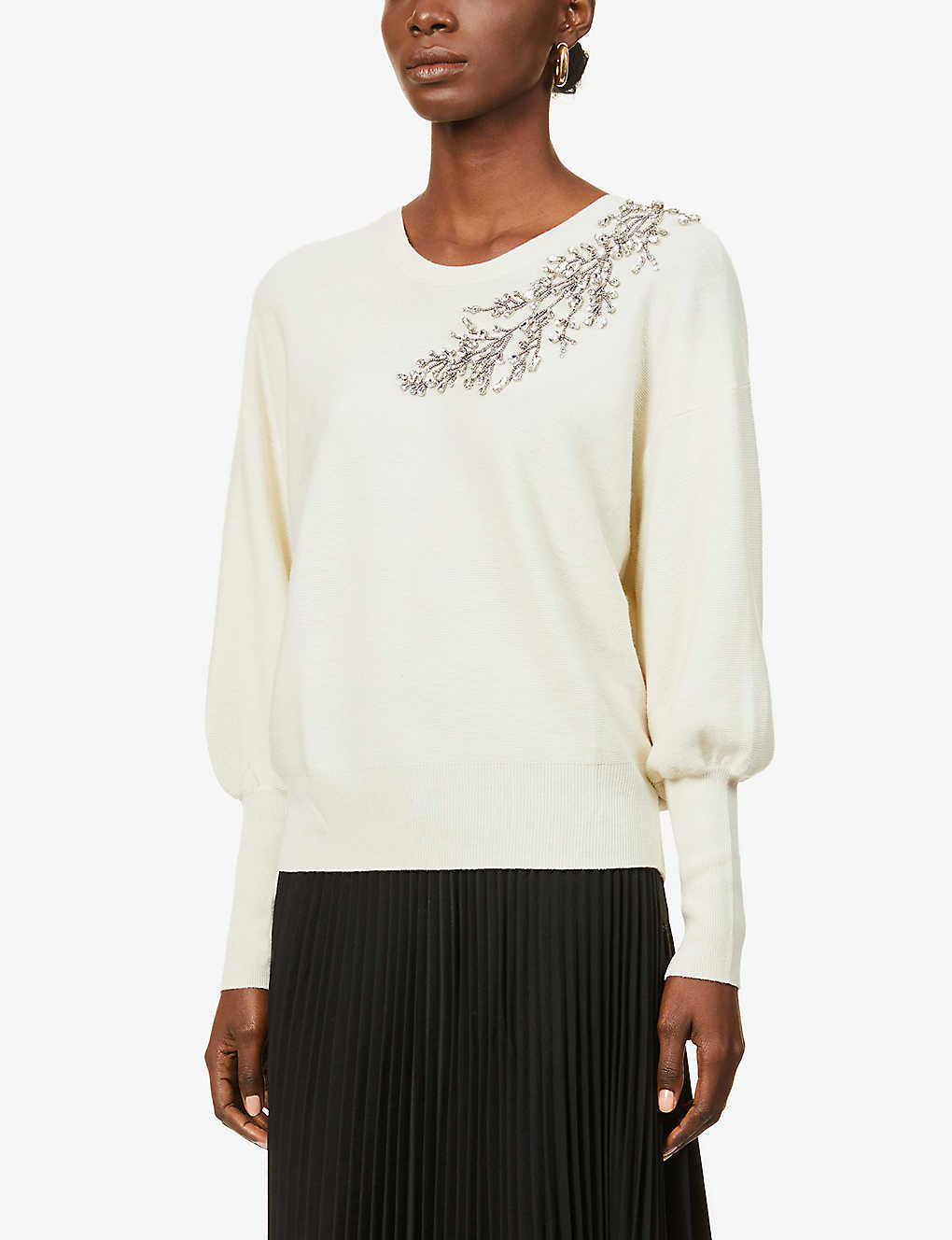 BA&SH: Hogan embellished wool-blend jumper