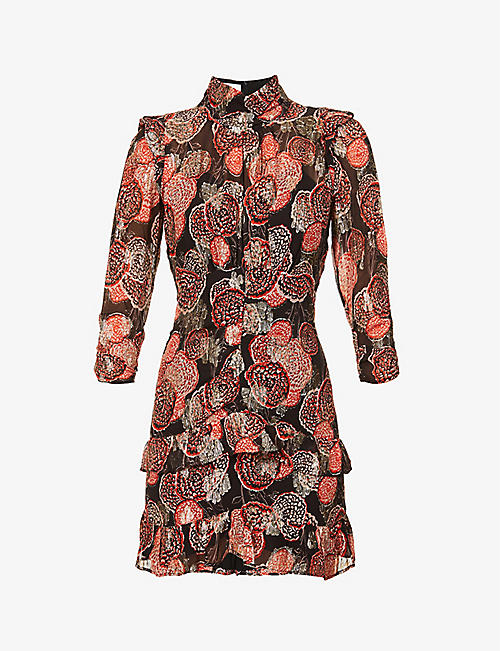 BA&SH: Hydra floral-embroidered woven mini dress