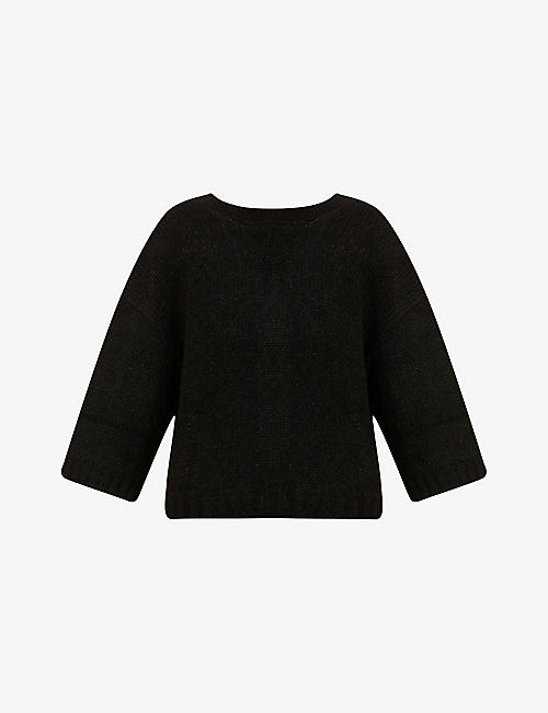 BA&SH: June scoop-neck wool-blend jumper