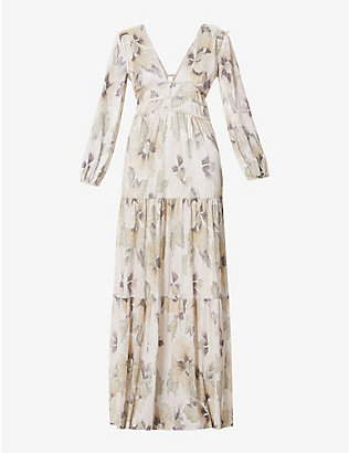 BA&SH: Lili floral-print woven midi dress