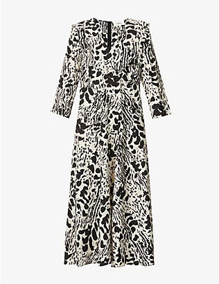 BA&SH: Olga animal-print crepe maxi dress