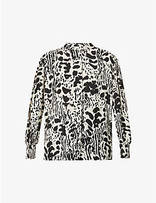 BA&SH: Opus graphic-print crepe top