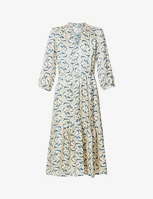 BA&SH: Song paisley-print woven midi dress