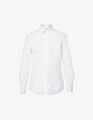 THOM BROWNE: Striped regular-fit cotton shirt