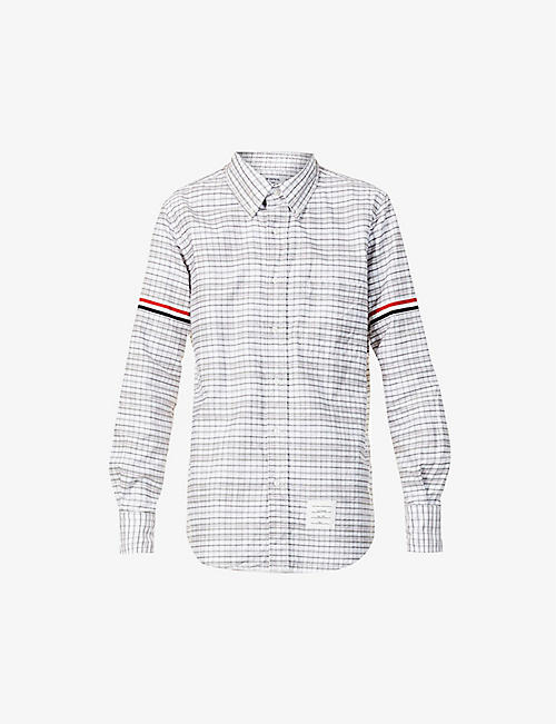 THOM BROWNE: Checked regular-fit cotton shirt