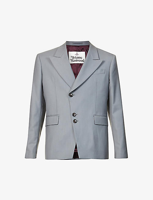 VIVIENNE WESTWOOD: Single-breasted regular-fit wool blazer