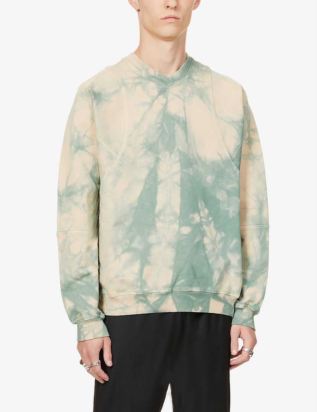 VIVIENNE WESTWOOD: Tie-dye brand-embroidered cotton-jersey sweatshirt