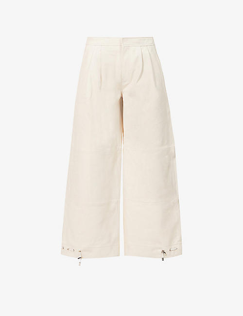 IBEN: Stephan straight mid-rise trousers