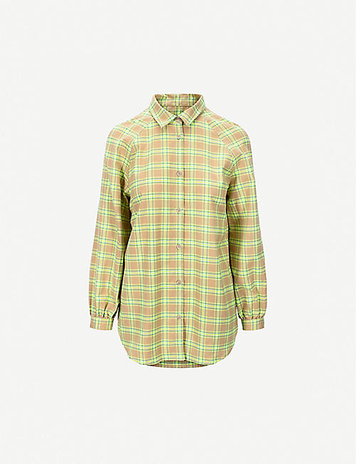 IBEN: Caine cotton plaid shirt