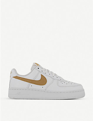 NIKE: Air Force 1 LV8 leather trainers