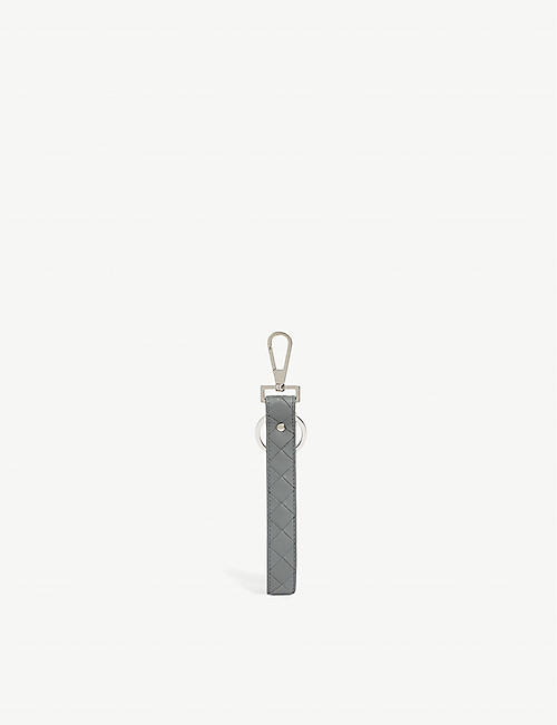 BOTTEGA VENETA: Intrecciato weave-leather keyring