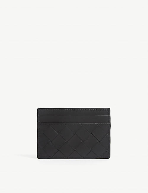 BOTTEGA VENETA: Intrecciato leather card holder