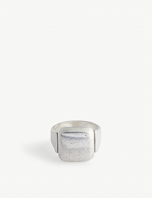 BOTTEGA VENETA: Square sterling-silver signet ring
