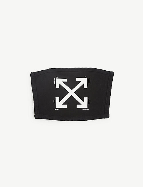 OFF-WHITE C/O VIRGIL ABLOH: Arrow-print cotton face covering