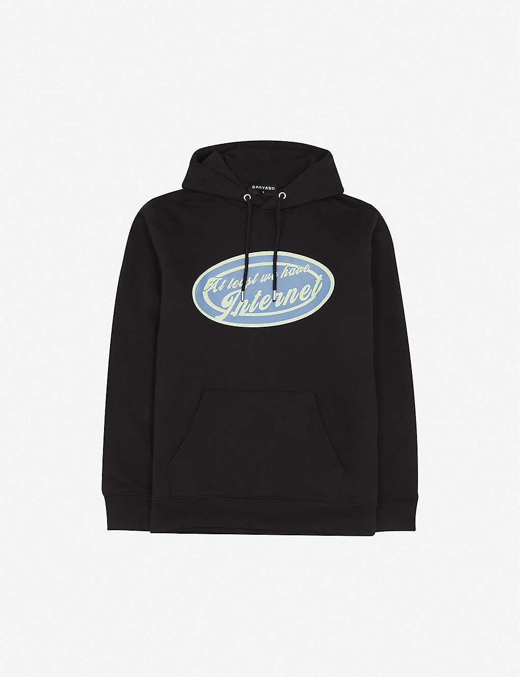 RAGYARD: Graphic-print cotton hoody