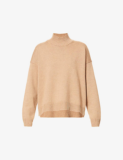 GANNI: Funnel-neck wool jumper