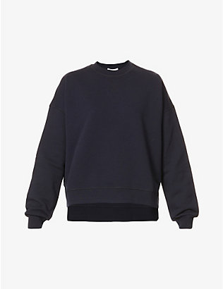 GANNI: Dropped-shoulder recycled-cotton and recycled-polyester blend sweatshirt