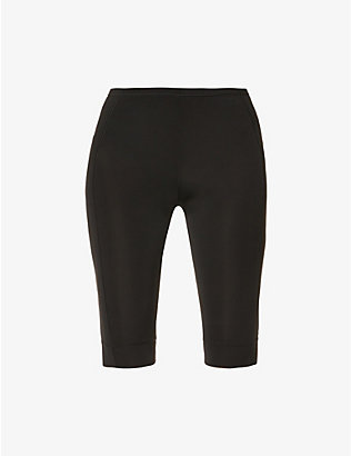 GANNI: Mid-rise stretch-woven cycling shorts
