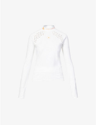 ADIDAS BY STELLA MCCARTNEY: Truepur recycled stretch-polyester top