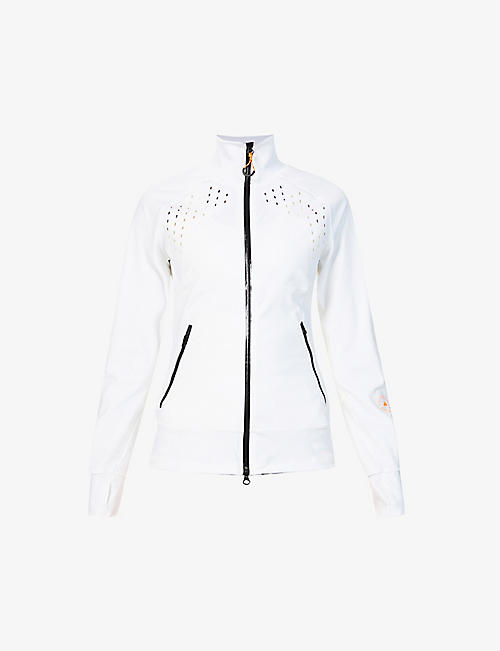 ADIDAS BY STELLA MCCARTNEY: High-neck recycled polyester-blend jacket