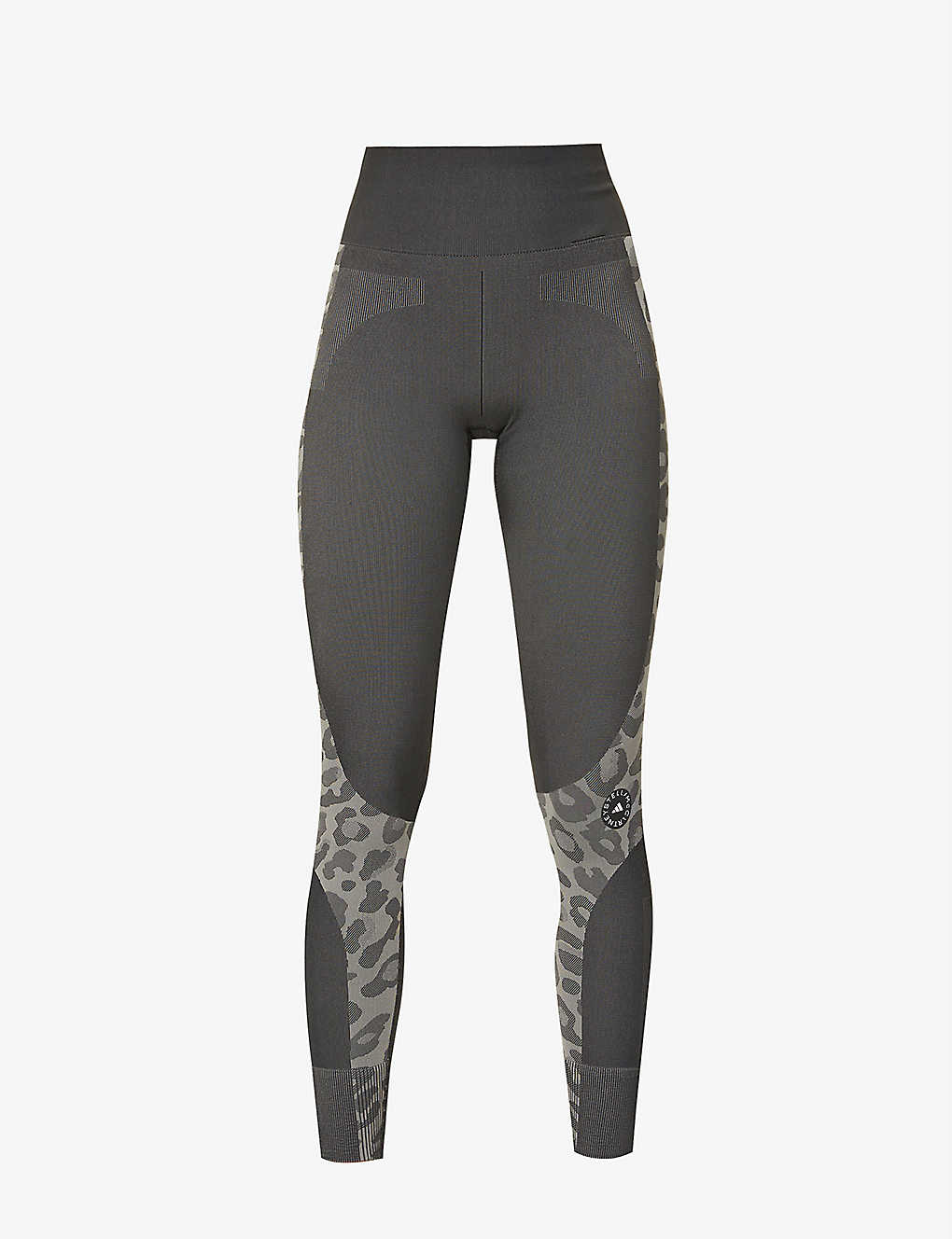 ADIDAS BY STELLA MCCARTNEY: Truepur leopard-print high-rise recycled polyester-blend leggings