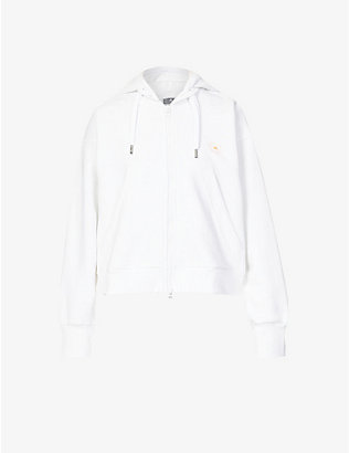 ADIDAS BY STELLA MCCARTNEY: Cropped organic-cotton and recycled-polyester blend hoody