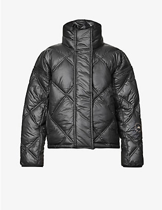 ADIDAS BY STELLA MCCARTNEY: Detachable-sleeve padded recycled-polyester puffer jacket