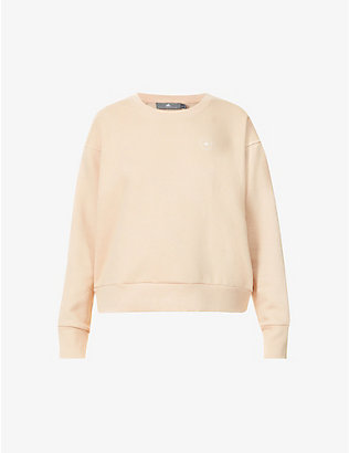 ADIDAS BY STELLA MCCARTNEY: Logo-print organic cotton and recycled-polyester blend