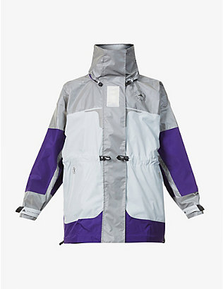 ADIDAS BY STELLA MCCARTNEY: High-neck reflective recycled polyester jacket