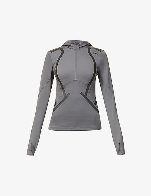 ADIDAS BY STELLA MCCARTNEY: Truepace stretch-recycled polyester top