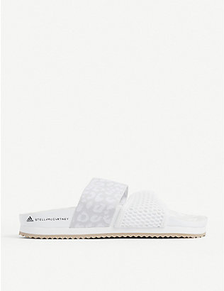 ADIDAS BY STELLA MCCARTNEY: Stella-Lette mesh sliders
