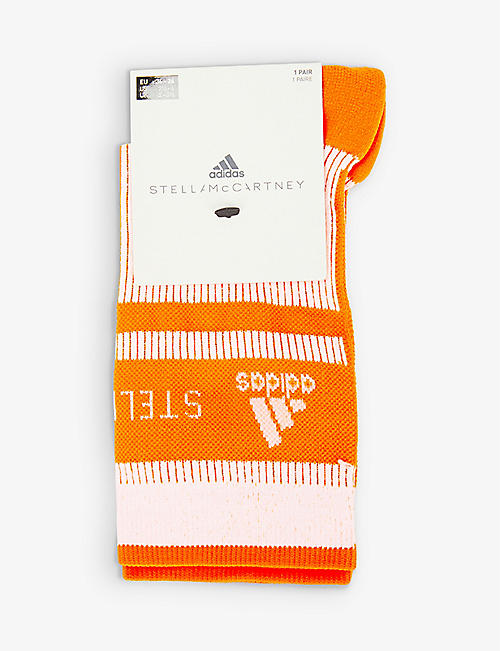 ADIDAS BY STELLA MCCARTNEY: Logo-embroidered stretch-woven socks